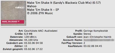 Wahoo: Make 'Em Shake It (Sandy's Blackwiz Club Mix)